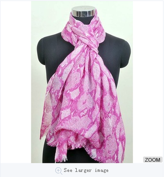 pure cahsmere printed white and pink scarves