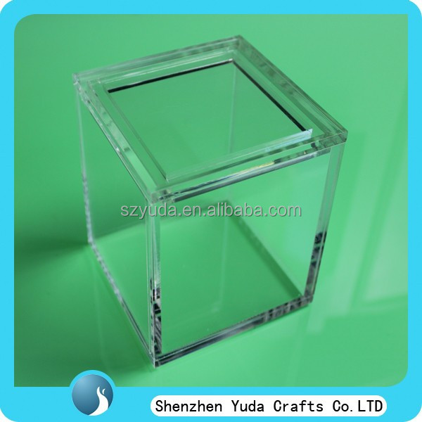 sweet candy storage box clear acrylic cube box,plastic box with cover