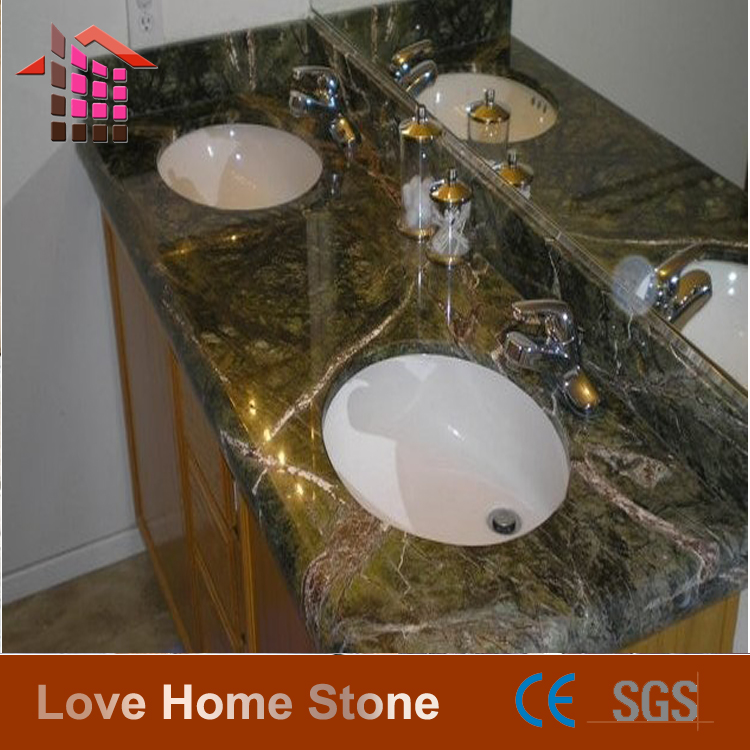 Good Quality Rain Forest Green Marble For Bathroom