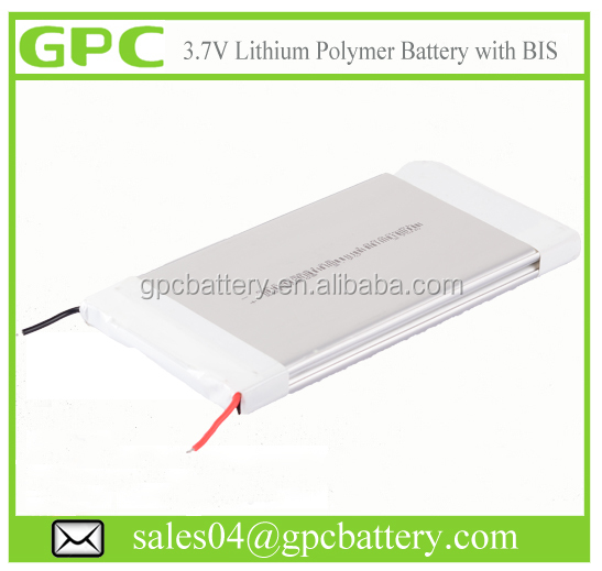 3.7V 3000mAh 4000 mAh 5000mAh Lithium Polymer Battery with BIS Certificate for Power Bank in China