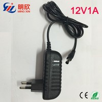 12v 1a /12v 1000ma ac dc power supply adapter US/EU/UK plug