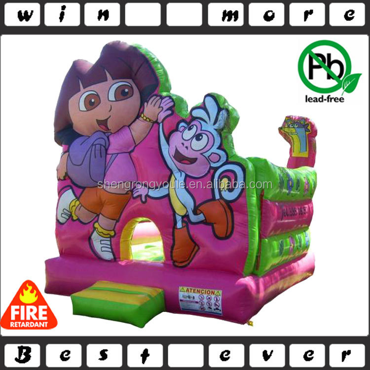 3D inflatable dora jumping castles for kids