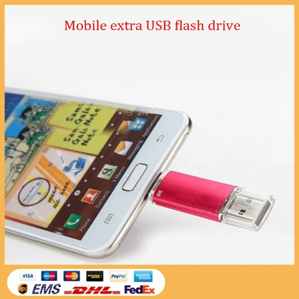 Promotional Good quality otg Plastic usb flash drive for iphone6