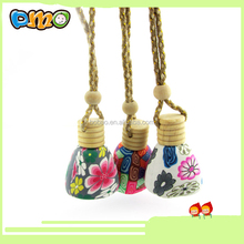 Hanging Car Air Freshener Perfume Diffuser Fragrance Empty Refillable Bottle Random Color Sent 12ML