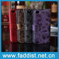 Leather cheap mobile phone case for iphone 4