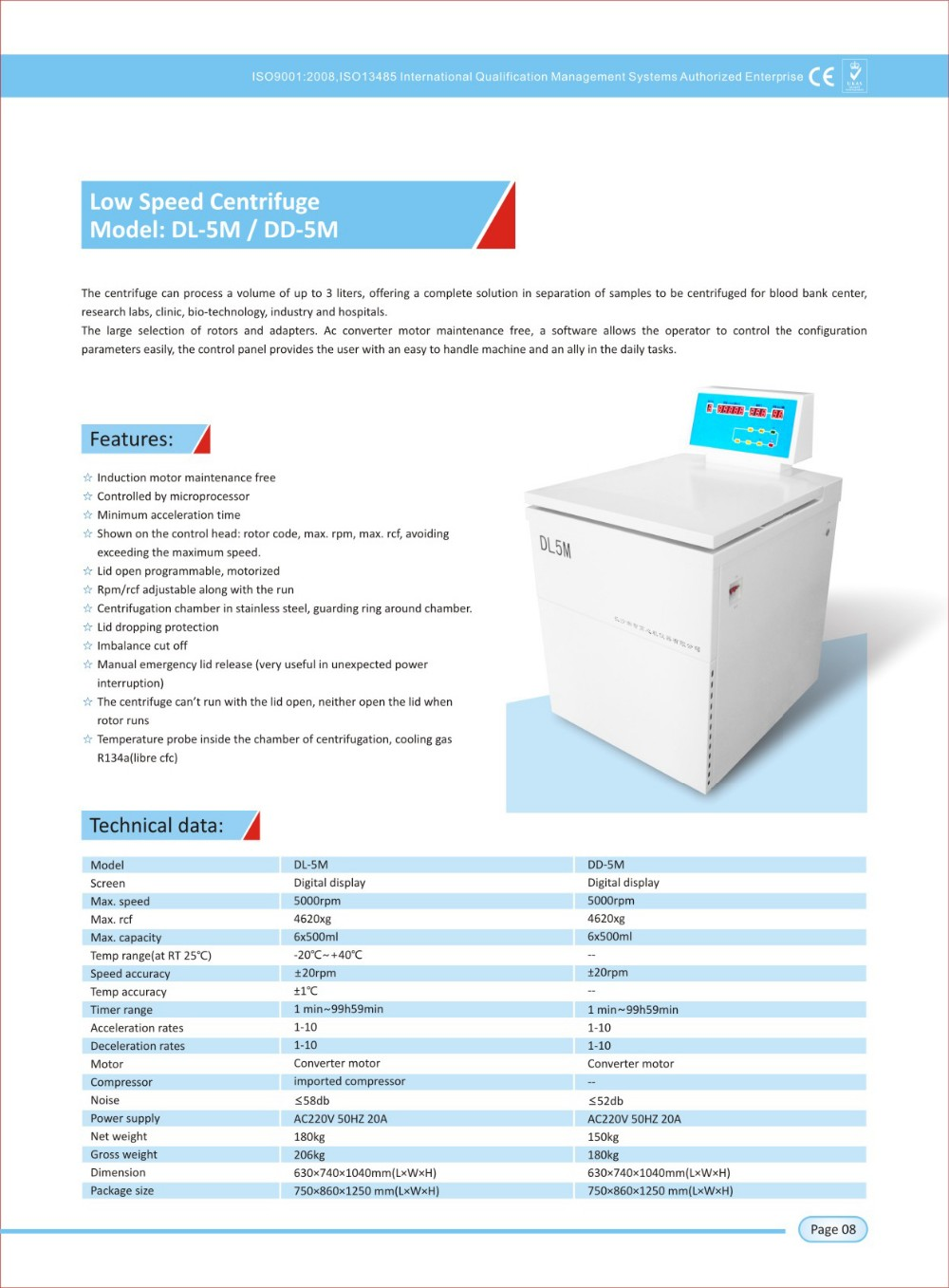 DL-5M floor stand low speed centrifuge