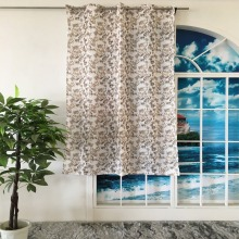 2018 latex drapes and curtains luxury leaf print fabric blackouts for cabins and garden rooms