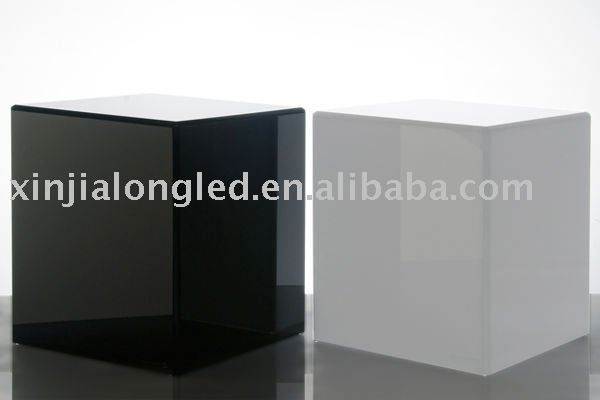 Modern Acrylic Cube Table Or Black Acrylic Maganize Table