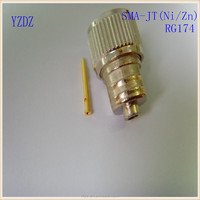 SMA Male RF Antenna Connector(Zn/Ni) For RG178 Or RG316 Cable