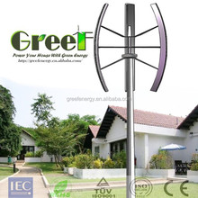 china cheap vertical axis wind turbine 3kw, vertical axis generator