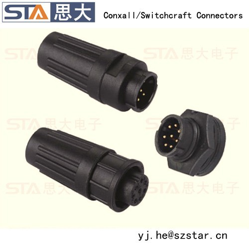 3 4 6 8 pins electrical bayonet connector