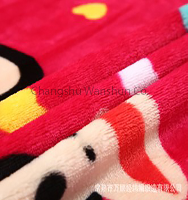 Wholesale custom soft touch printed flannel fleece