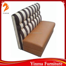 High end button tufted fast food furniture restaurant seating cafe sofa
