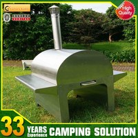 Outdoor Portable Pizza Wood Fired Oven in Garden