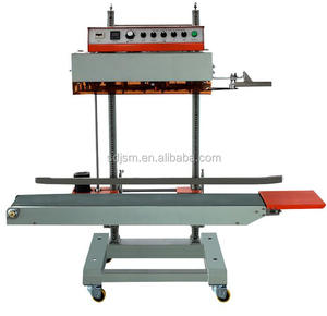 Industrial vertical continue band sealer for big plastic bags QLF-1680