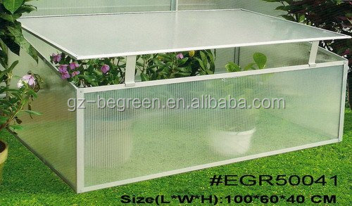 Two side,Mini diy polycarbonate greenhouse with double ventsGreen house with PC Panels and Aluminum Frames