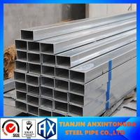 Building materials 60-275g zinc galvanized square and rectangular tube!tianjin galvanized steel square pipe