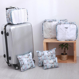 Encai 5 in 1 Luggage Organizer Bag Set Travel Clothes Packing Cube Bags Set