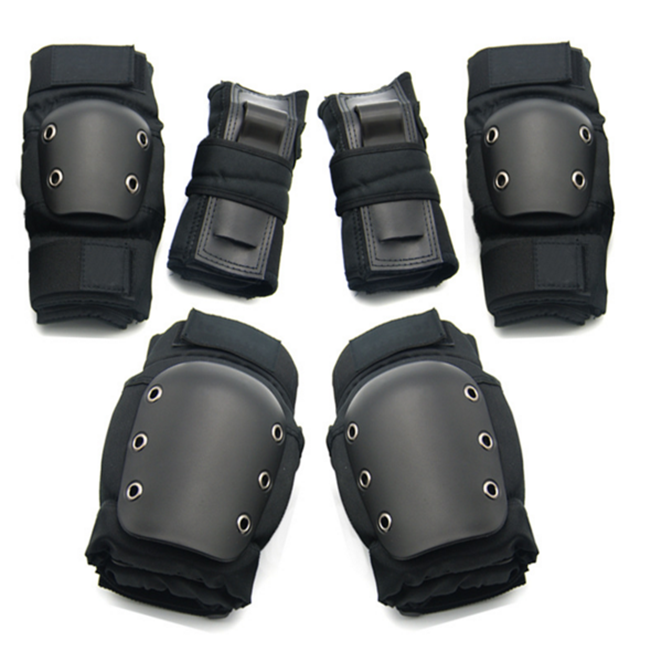 High quality hot sell saftey protective gear set elbow knee wrist pads with private label