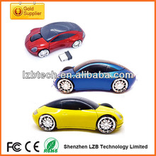 personalized sports car shape wireless 3D optical mouse