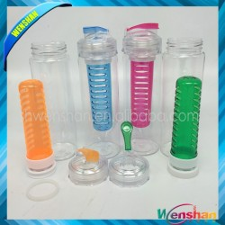 wholesale 27 oz. BPA-Free Tritan Fruit/Vegetable Infuser Water Bottle with flip cap Dishwasher