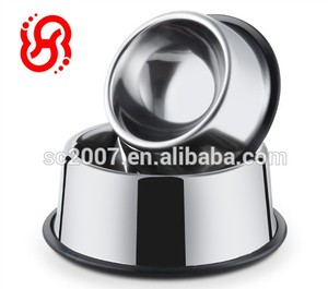 Travel Skidproof Stainless Steel Dog Bowl Rubber Ring
