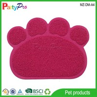 2015 Pet Products Supply Hot Selling PVC Pet Paw Cleaning Mat Dog Cat Seat Cushion Pet Dog Cushion