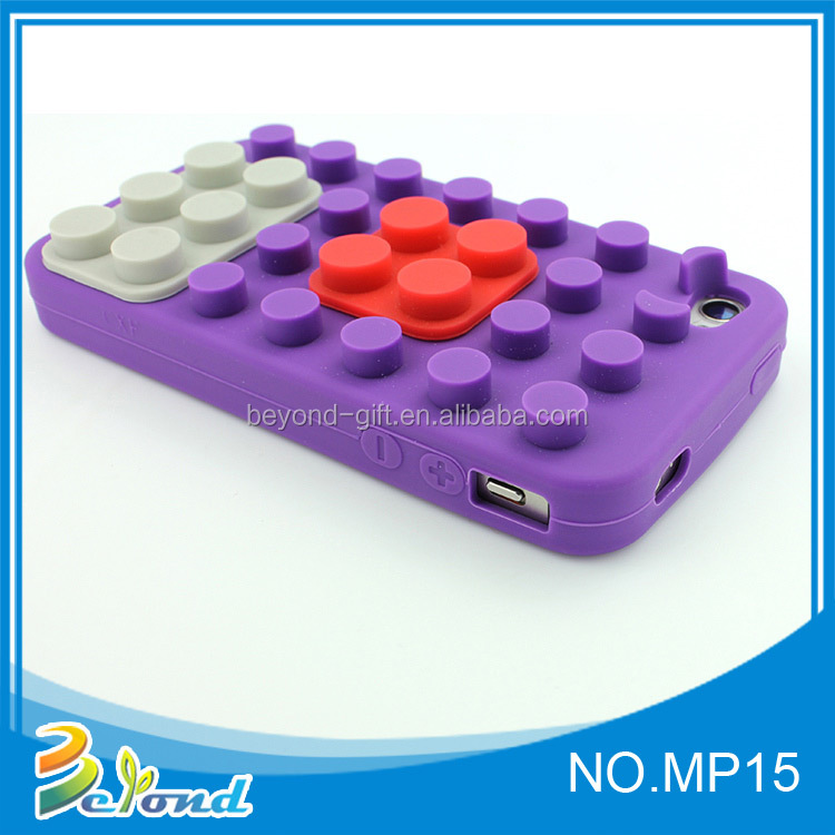 New shape soft purple non-slip silicone wireless phone cover