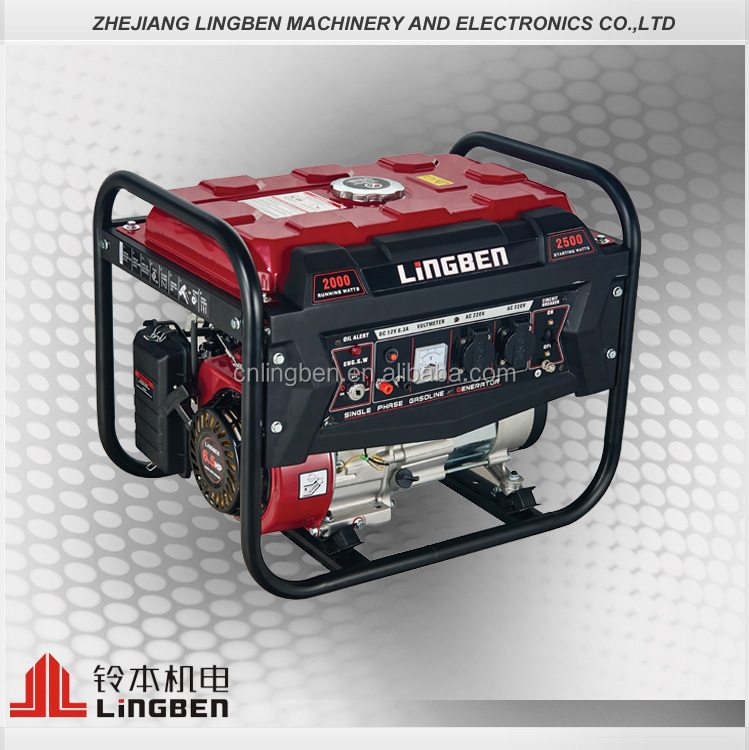 Lingben China Top quality 2kw portable battery operated tigmax gasoline generator