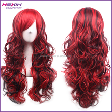 Curly Wavy Red Wigs Women Fashion Cosplay Wig for Party