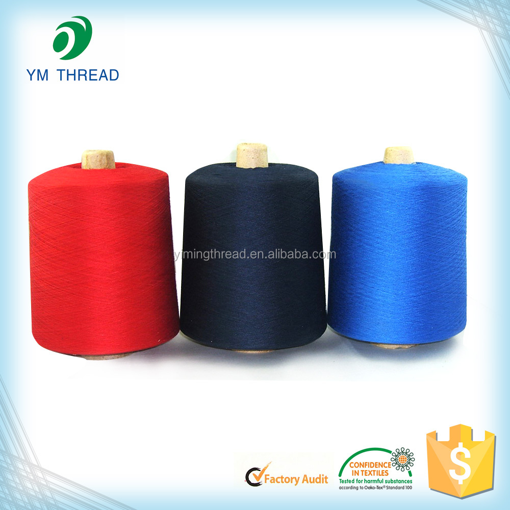 Cone Dyed Fabric Socks Yarn 100% Polyester Spun Yarn 30/1