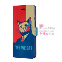 Fashion Multi Design Painted Stand Book Wallet PU Leather Case for iphone 6 ultra thin pu leather case wholesale alibaba