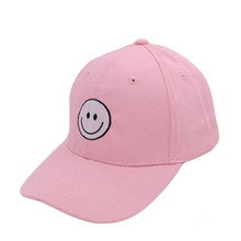 100% Cotton Plain Pink Baseball Cap Adjustable Hat Women Clothing