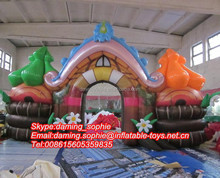 New Design Promotional Inflatable casttle arch entrance