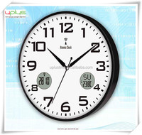 calendar digital LCD round 12 inch wall clock for home decoration