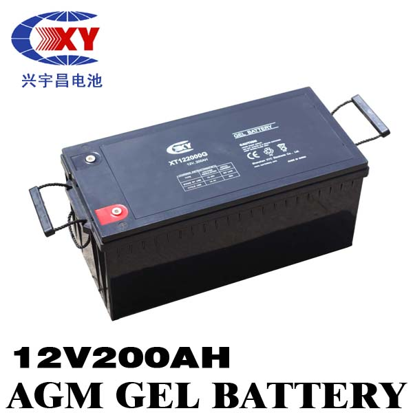 lead acid accumulator 12v 200ah sealed rechargeable battery