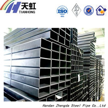 black rectangular structural steel tube