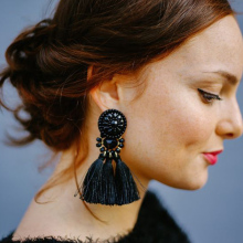Dvacaman Exaggerate Women Ethnic Vintage Long Fringe Earrings Handmade Jewelry Statement Tassel Drop Earrings Pendientes 6263