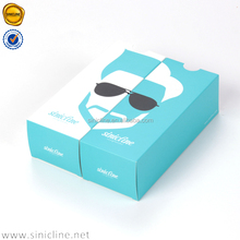 Sinicline 2016 snappy design Custom Cardboard box sunglasses Paper Accessories draw box
