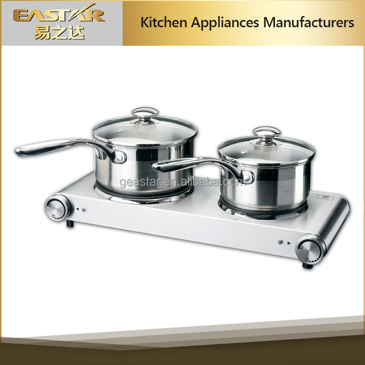 Germany design european market hot sale stainless steel double burner electric stove hot plate
