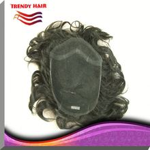Loose Curly Mixed Color Indian Hair Toupee For Women