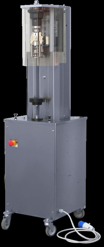 Semi-automatic capper for aluminium screw caps