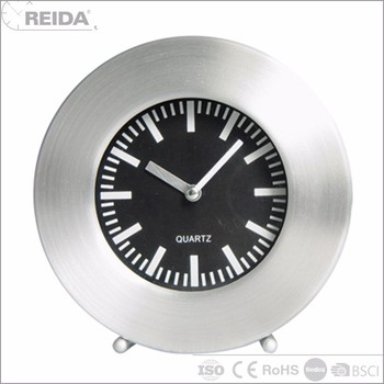 Factory desk quartz wall no number metal clock decoration