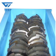 High Efficient of Rubber Tire Shredder