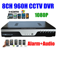 H.264 CCTV Network 8ch 860H Security DVR Recorder 8 Channel Full D1 Realtime Recording1080P HD HDMI Audio Alarm