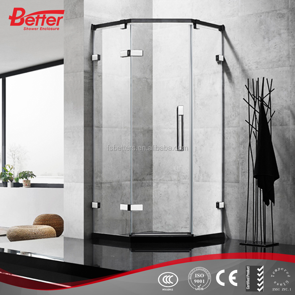 China bubble glass frameless shower enclosure door