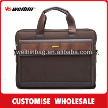 New hard shell leather laptop briefcase WB-0807