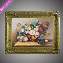 Classical oil picture frames diamond painting frame for wall decoration