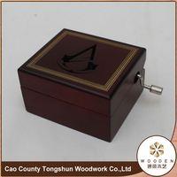 Wooden Base Metal Music Box