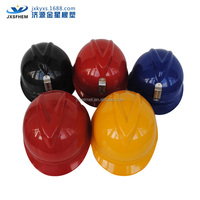 ABS safety helmet with v guard/LED lamp attachable crash helmet-6 point suspension